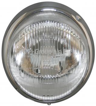 Scheinwerfer mit Chrom-Ring, mit E-Kennzeichnung