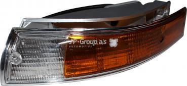 Blinkleuchtenglas mit Metallgehäuse, vorne,links